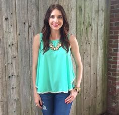 Mint Green Top http://www.shopwildflowerboutique.com/new-products/mint-green-top
