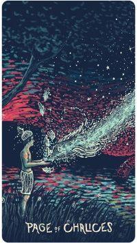 Thực hư Lá Page of Chalices - Prisma Visions Tarot bài tarot