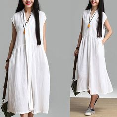 Shopping Happy-Shortsleeve Women Dress White by PrettyQualityDecor