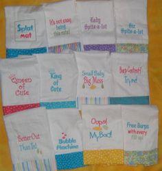 diaper burp cloths - Google Search