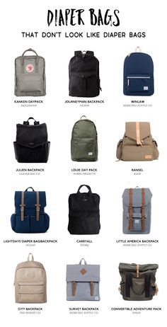 A diaper bag or nappy bag is a storage bag with many pocket-like spaces that is big enough to carry everything needed by someone taking care of a baby while taking a typical short outing. Dad Diaper Bag, Best Diaper Bag, Diaper Bags For Dads, Trendy Diaper Bags, Diaper Bag Essentials, Style Personnel, Diaper Bag Backpack, Travel Backpack, Stylish Backpacks