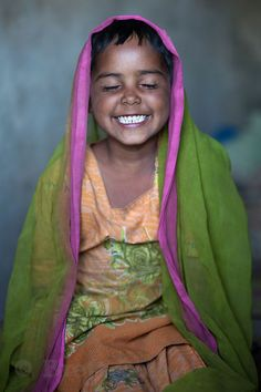 A girl from the rural village of Kharkheri, Rajasthan, India. By Brett Cole.