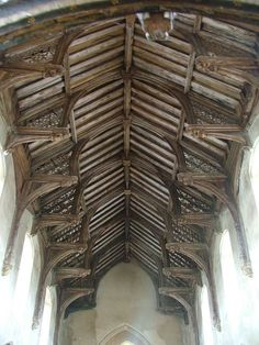 Beautiful Medieval Hammer Beam Roof in St Botolph's Church Trunch Norfolk