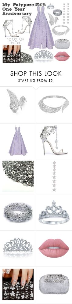 """""""My Polypore One Year Anniversary"""" by bruhitslucy ❤ liked on Polyvore featuring Messika, Alex Perry, Marchesa, Elise Dray, Disney, Bling Jewelry and Lime Crime"""
