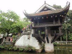 Pagoda del Pilar Único en Hanoi. Vietnam