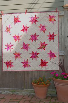 wonky star quilt by drury girl, via Flickr like the layout