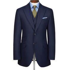 Navy British Panama Slim fit luxury suit - Charles Tyrwhitt, $699