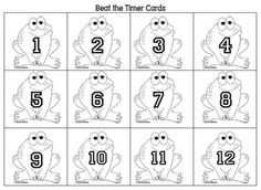 Here's a set of number cards for ordering by 1s, 2s, 5s, 10s, etc. Add in a timer and see if students can order their numbers before time runs out!