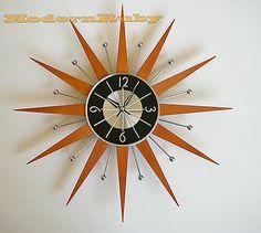 GEORGE NELSON STAR Ball atomic retro style CLOCK MIDCENTURY danish MODERN FUNKY