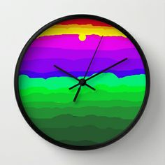 The World is a Rainbow of Color Wall Clock