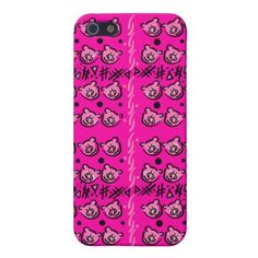 Pink pig pattern iPhone 5/5S Case