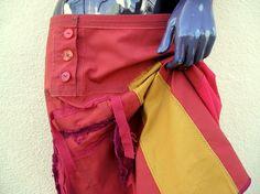 RED and ORANGE asymmetrical skirt by JulieMarieSink on Etsy, $58.00