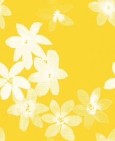 Flower Flock (2562) - Eco Wallpaper Wallpapers - An stylised flower design in white velvet flock with a pixilated effect. Shown on a metallic yellow background - more colours available. Please request a sample for true colour match. Paste-the-wall product.