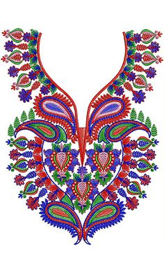 Now you can enjoy our Premium Range Embroidery Designs of Neck Embroidery Neck Designs, Gold Embroidery, Embroidery Dress, Design Of Neck, India Pattern, Neck Pattern, Textile Patterns, Wedding Wear, Hobbies And Crafts