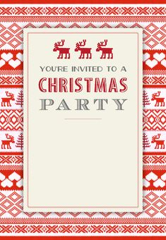 sweaters pattern free printable christmas invitation template greetings island - Free Christmas Invitation Templates