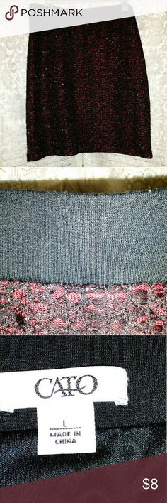 CATO  METALLIC SKIRT CATO MATALLIC SKIRT , with elastic waist , and a lining Cato Skirts