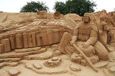 Darth Vader sand sculpture