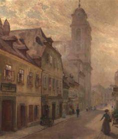 Die Marktgasse in Wien by Emil Czech