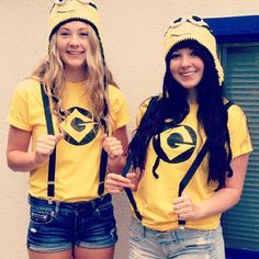 Minions: Take over the world with these evil minion costumes a la Despicable Me. What you need to do: Get a yellow top and overalls. You can make your own hat, and add eyes made out of cloth or eyes made from Styrofoam cups. You can also choose to paint your face yellow Source: Instagram user sarahsawiak