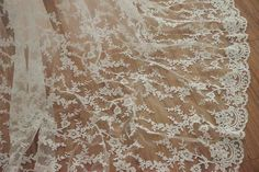 Exquisite Alencon Lace Fabric for Wedding Gown Bridal by lacetime