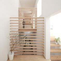 Katsutoshi Sasaki's House in Yamanote features sleeping platforms raised over an indoor terrace