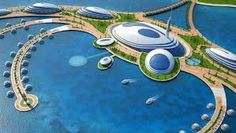 There are a lot of unusual hotel in the world which offer suits on trees, in caves, in jail and other strange places. Another interesting hotel will appear in Qatar soon – it will be semis Floating Hotel, Floating Island, Web Design, Invite Your Friends, Doha, Tahiti, Invitations, World, How To Make