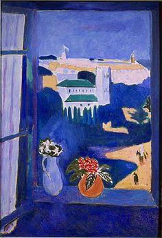 La Fenêtre à Tanger (Paysage vu d'une fenêtre Landscape viewed from a window, Tangiers), 1912. oil on canvas, 115 x 80 cm, Pushkin Museum