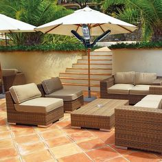 Stay Warm While Outdoors with the Umbrella Pole Patio Heater #backyard trendhunter.com
