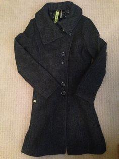 Independent Designer | Threadflip soia and kyo Sweater Coats, Men Sweater, Sweaters, Soia And Kyo, Pea Coat, Wool Coat, Turtle Neck, Warm, Design