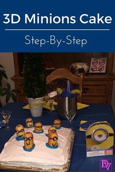 #minionscake #3d #dessert #cake #minions #howto #stepbystep #boxcake #birthdays #parties #gatherings #sheetcake #diy #easy #fast #recipe #recipes #birthdayparties #celebrations #baking #cake #cakemix #meatless