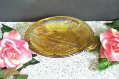 Amber Relish Dish Killarney from Indiana by WidhalmsCollectibles