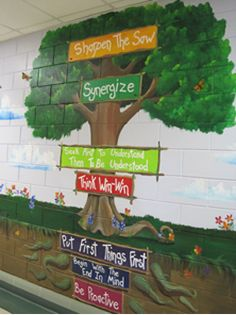 1000 images about 7 habits leader in me school on for 7 habits tree mural