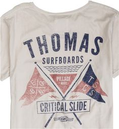 CRITICAL SLIDE X THOMAS SURFBOARDS PILLAGE SS TEE  Mens  Clothing  Graphic T-Shirts | Swell.com