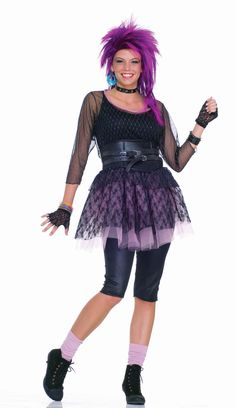 Funky Pop Star 80s Halloween Costume - A great costume idea for an 80's or pop star themed Halloween costume. Or wear it to portray Cyndi Lauper, Madonna or any other 80's pop star this Halloween. Become your favorite 80's pop star in a matter of seconds with this awesome 5 piece Funky Pop Star Halloween costume. #costume #yyc #calgary #cyndilauper #madonna #80s #retro