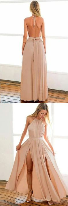 Backless Halter Floor Length Prom Dresses With STGPZ384JG8, This dress could be custom made, there are no extra cost to do custom size and color Split Prom Dresses, Prom Dresses Long Pink, Cheap Evening Dresses, Backless Prom Dresses, Mermaid Prom Dresses, Cheap Prom Dresses, Summer Dresses, Sweetheart Prom Dress, Special Occasion Dresses