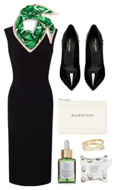 """Sleek"" by cherieaustin ❤ liked on Polyvore featuring Roland Mouret, Yves Saint Laurent, Balenciaga, Sunday Riley, Echo, Maison Margiela and Sephora Collection"