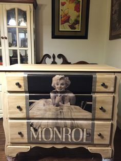 White Marilyn Monroe Dresser