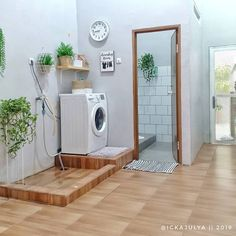 Laundry Room Design, Home Room Design, Small House Design, Home Interior Design, Laundry Area, Outdoor Laundry Rooms, Modern Laundry Rooms, Laundry Room Layouts, Bathroom Inspiration