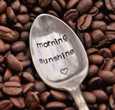 Morning Sunshine    Hand Stamped Vintage Coffee by jessicaNdesigns, $12.00