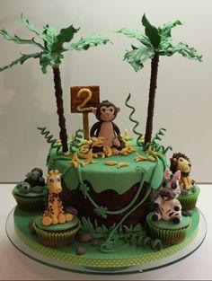 Dschungel Safari Jungel Cake Jungle