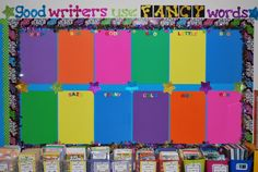 Use clipboards on the bulletin board to hang up student work. Simply change the title with each assignment and hang the work on the boards r...
