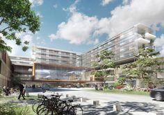 Nyt Aalborg Universitetshospital by aarhus arkitekterne #NAU #danisharchitecture #scandinavianarchitecture #hospital #healthcare #aarhusarkitekterne