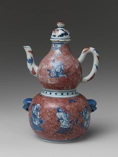 Wine Vessel with Daoist Immortals Qing dynasty (1644–1911), Yongzheng period (1723–35) Culture: China
