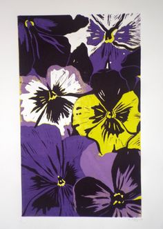 'Hazel' - Limited Edition (10) Reduction Linocut print