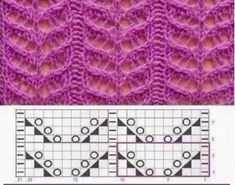 Lace Knitting Stitches, Lace Knitting Patterns, Knitting Charts, Lace Patterns, Hand Knitting, Stitch Patterns, Gilet Crochet, Position, United Nations