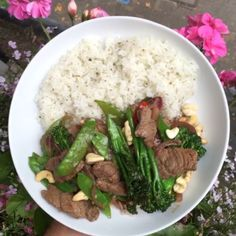 Try my beef and cashew nut stir fry with rice  Great post Workout meal to refuel and its #Leanin15