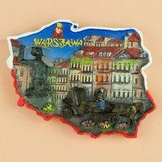 Poland Map Magnet - Warsaw, Old Town Magnets - Magnets - By Polish Souvenirs - 5905793012009 at Polart - PolandByMail