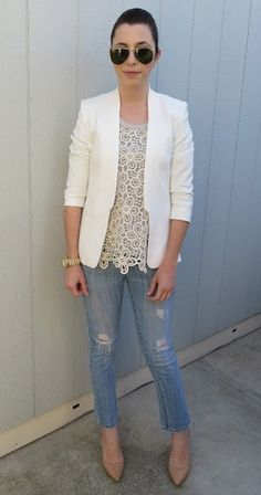 I like this for a casual look.  Add a pencil skirt for work.  Nice!