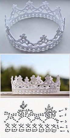 DIY Couronre au crochet / #crochet #crown - every #princess needs at least one