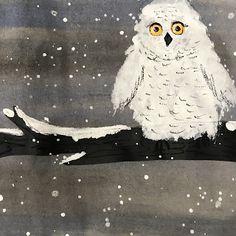 Elements of the Art Room: Kindergarten Snowy Owls Owls Kindergarten, Kindergarten Art Lessons, Winter Art Kindergarten, Winter Art Projects, Toddler Art Projects, Owl Art, Art Classroom, Art Plastique, Art Activities